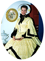 yellow dress 1860s